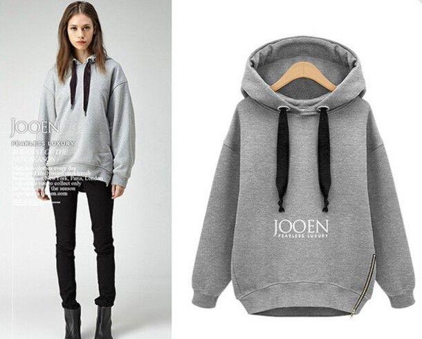 jacket sweatshirt grey big sweatshirt hoodie cozy winter outfits fall outfits oversided grey sweater fashion