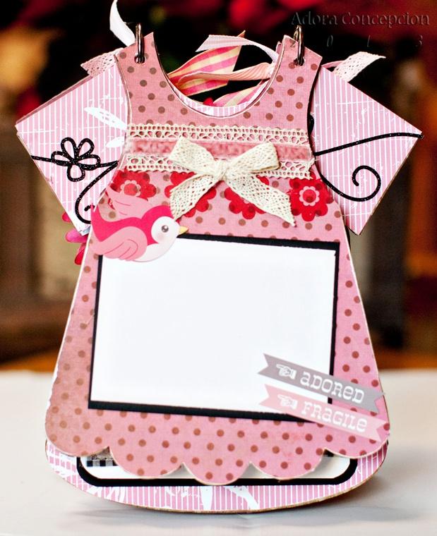 Card Making Ideas Scrapbooking Part - 34: Girls Bib Dress CB Album.. Baby Girl DressesBaby GirlsBaby ScrapbookScrapbooking  IdeasScrapbook LayoutsChipboardCard MakingBibsAlbums
