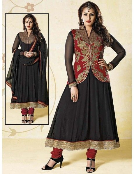 Buy Stately Jacket Pattern Kameez Online. http://www.bharatplaza.com/womens-wear/readymade-suits/bollywood-salwars.html