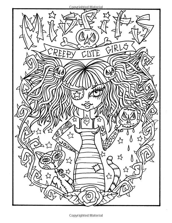 Misfits Cute And Creepy Girls To Color Deborah Muller Shawn Bobar