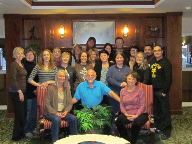 Group looking good after four day Intemsive Beginning Foot Hand Ear Reflexology Course with Bill Flocco,   www.AmericanAcademyofReflexology.comsponsored by the Oregon Reflexology Network (ORN).