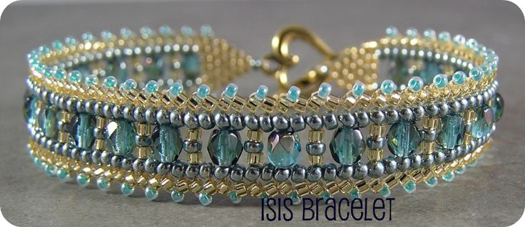 Isis bracelet--wish I lived near this bead shop so I could make this!