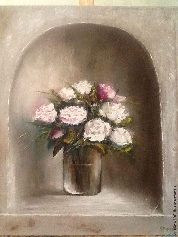 Купить Букет роз - белый, букет роз, букет цветов, купить картину в подарок