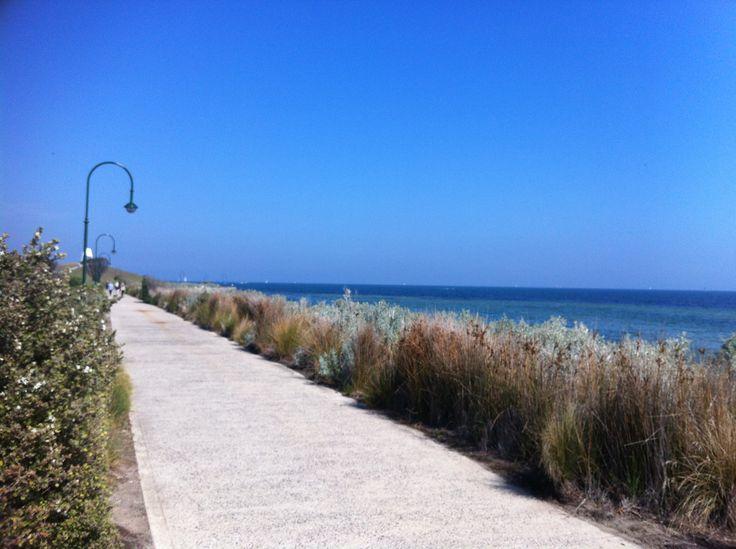 Walking Track up St Kilda Beach, Port Philip.