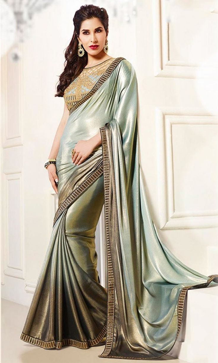 Buy #Gray and #Black Party wear Designer #Saree at Discounted Prices - SAEKR0027