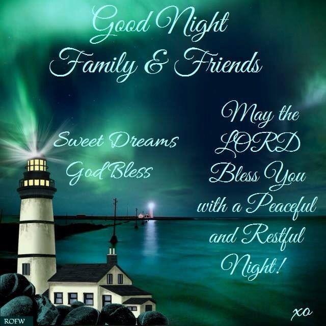Night Time Prayer Quotes: Good Night Greetings