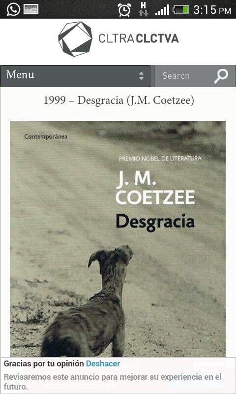 Desgracia- J.M. Coetzee