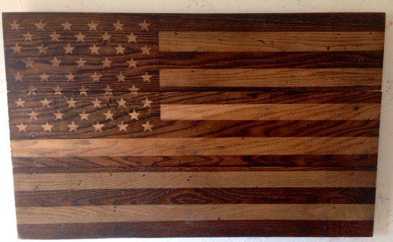 rustic wooden flag 2