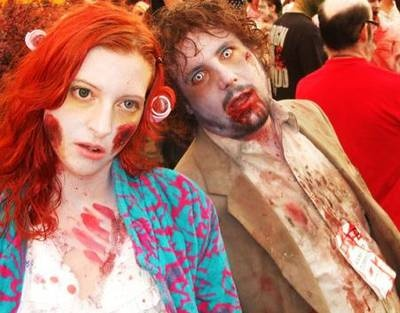 How-To Zombie Makeup with recipes for fake skin (sans latex) and fake blood