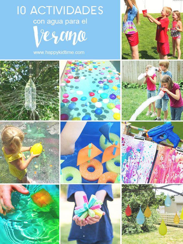 10 Actividades con agua para niños este verano