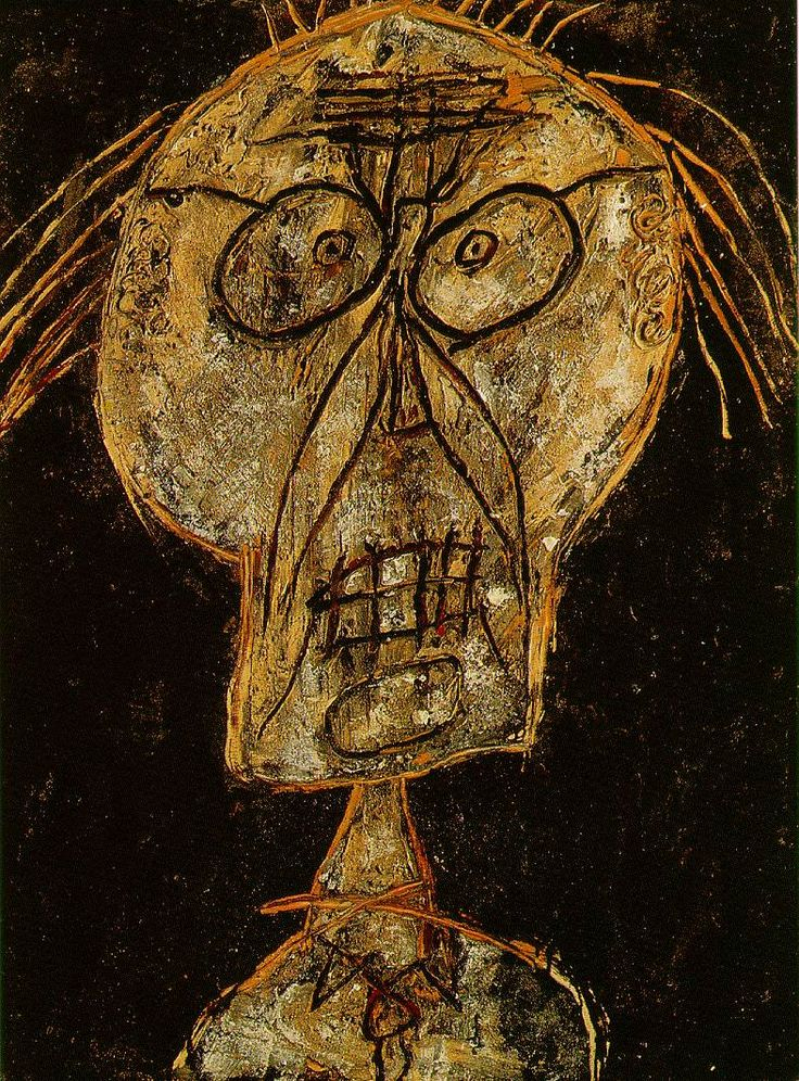 1947, Jean Debuffet, Gran maestro del afuera, la desintegración de la psique humana, por los horrores que se vieron en la guerra......