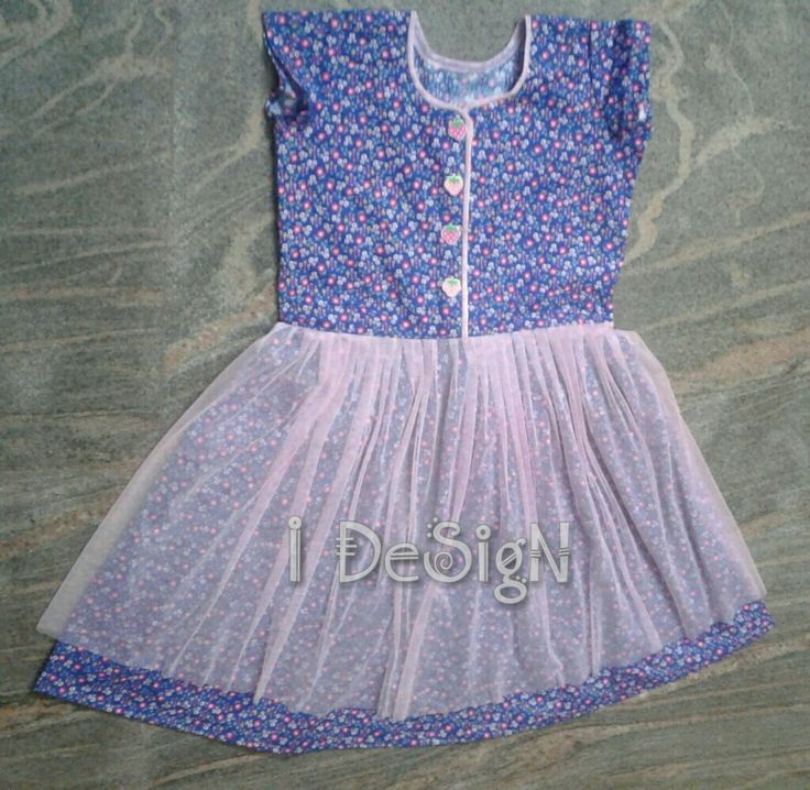 Cotton netted frock