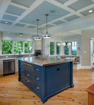 Kitchen low ceiling coffered Design Ideas Pictures