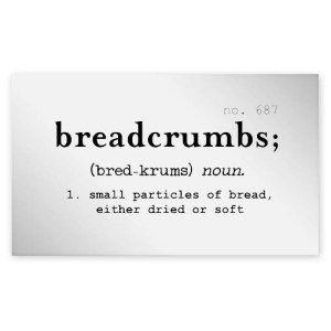Breadcrumbs Clear Jar Label