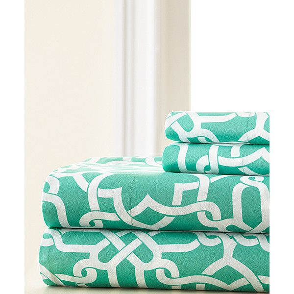 Spirit Linen Aqua Ruthy Sheet Set ($17) ❤ liked on Polyvore featuring home, bed & bath, bedding, bed sheets, patterned bedding, aqua sheet set, patterned pillow cases, aqua blue sheet set and aqua blue bedding