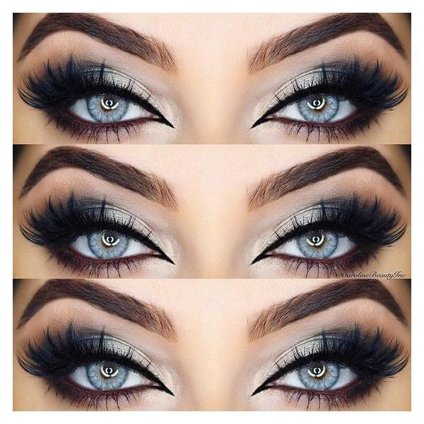 33 Best Ideas of Makeup for Blue Eyes ❤ liked on Polyvore featuring beauty products, makeup, eye makeup and eyes