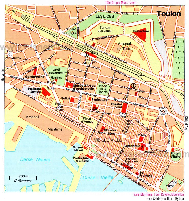 10 Tips For Creating The Most Relaxing French Country: Map Of Toulon Attractions
