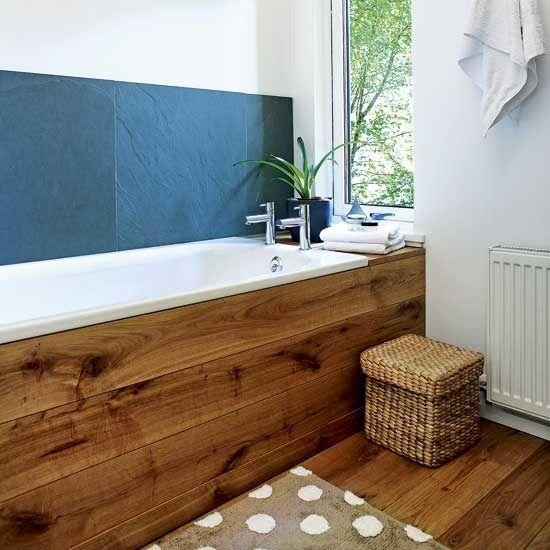 Фото из статьи: 20 крутых идей отделки деревом ванной и туалета