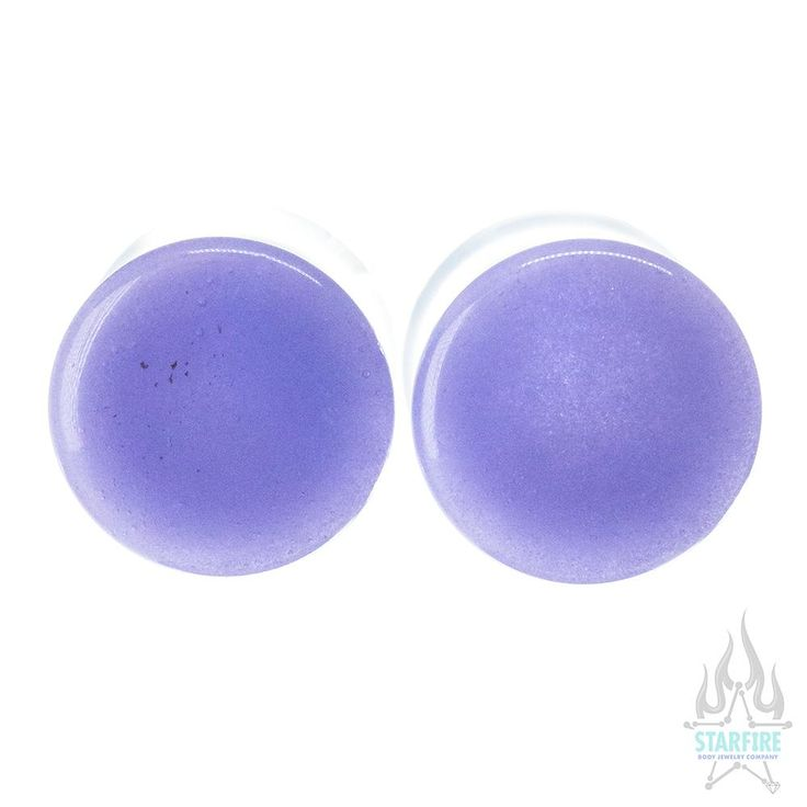 Single-Flared Glass Colorfront Plugs - Purple | Body Jewelry for Body Piercings