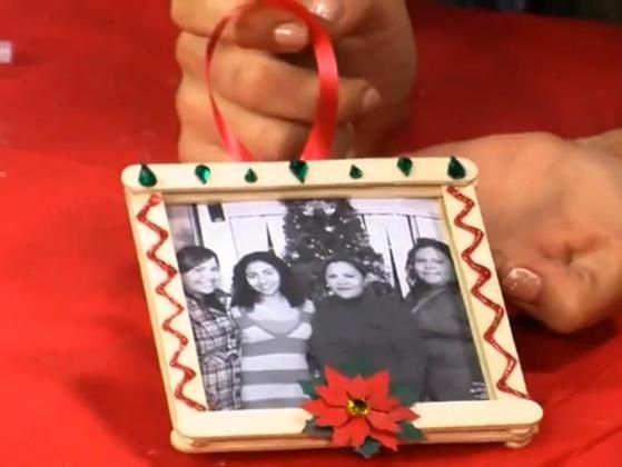 Picture Frame Ornament - Craft-a-Day.  This would be good craft idea for the twins