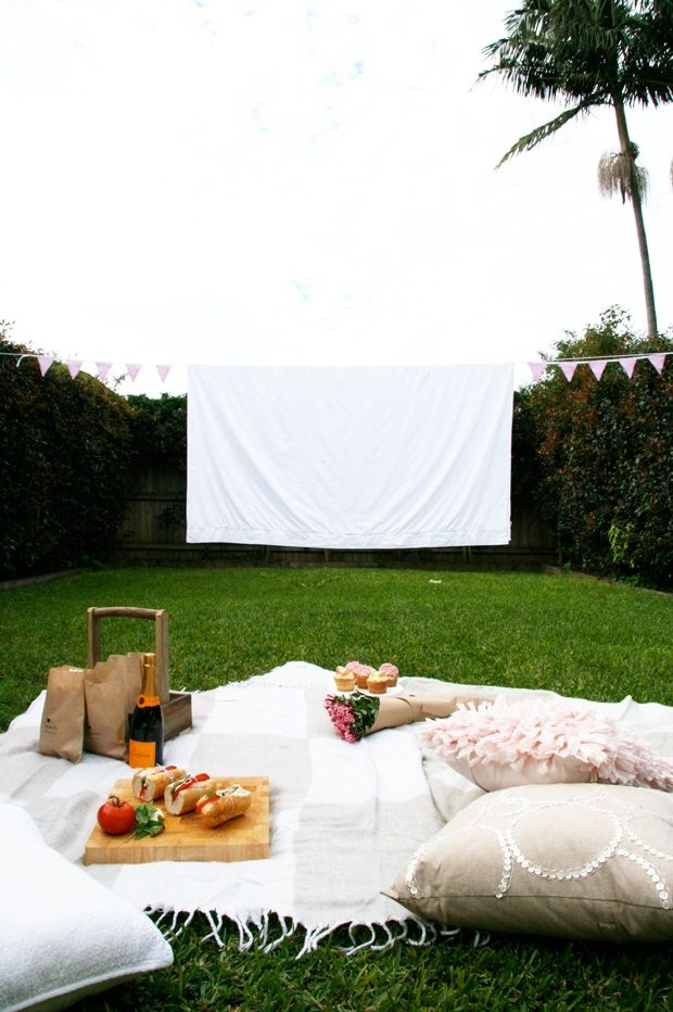 pretty fluffly--- cinema in backyard or garden!