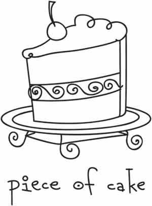 Piece of Cake | Urban Threads: Unique and Awesome Embroidery Designs