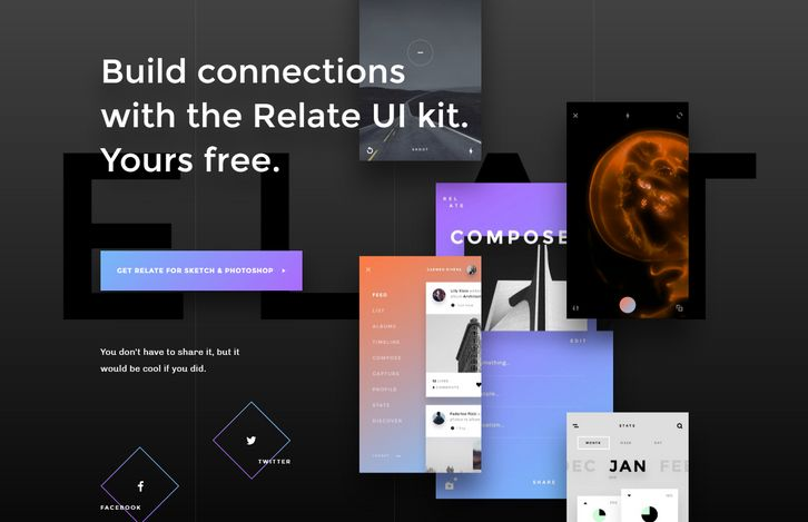 Free Download: Relate UI Kit with 99+ UI Components