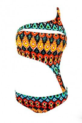 Sabz Swimwear 2014 'Neon Shark Bite' Monokini   The Orchid Boutique