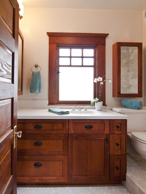 Craftsman Style Bathroom Wall Cabinets : Ideas about craftsman bathroom on