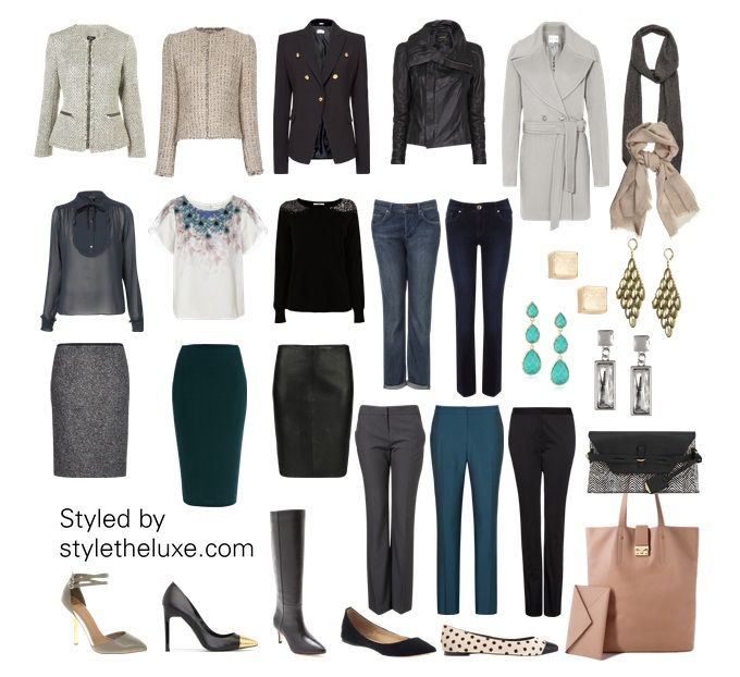 This capsule wardrobe was created  for the pear (triangle up ward) shaped body. It's been styled for a business casual lifestyle. These pieces can be mixed and matched to create great looks for wor...