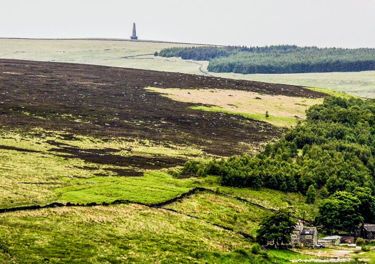 Stoodley Pike pictured from Sowerby near the abandoned operation starfish site.