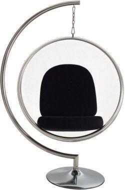 Fauteuils : Bubble stoel op voet zwart kussen