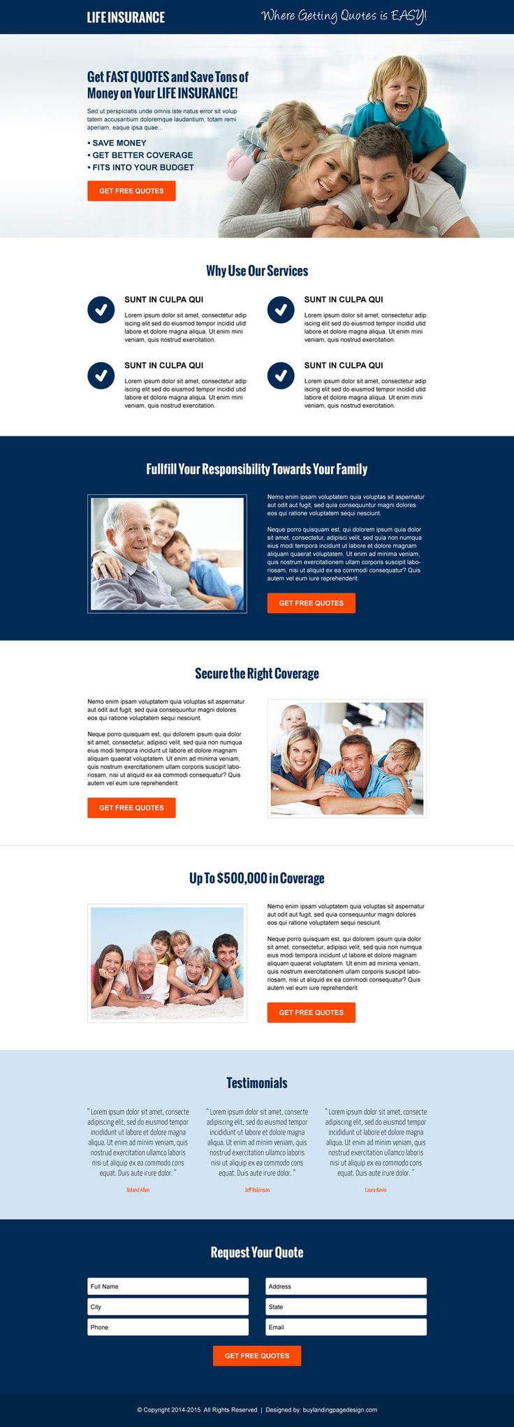 free lead capture page templates - 81 best life insurance landing page design images on