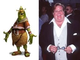 Chris Farley was originally hired to voice Shrek. He actually had 80-90% recorded when he died.
