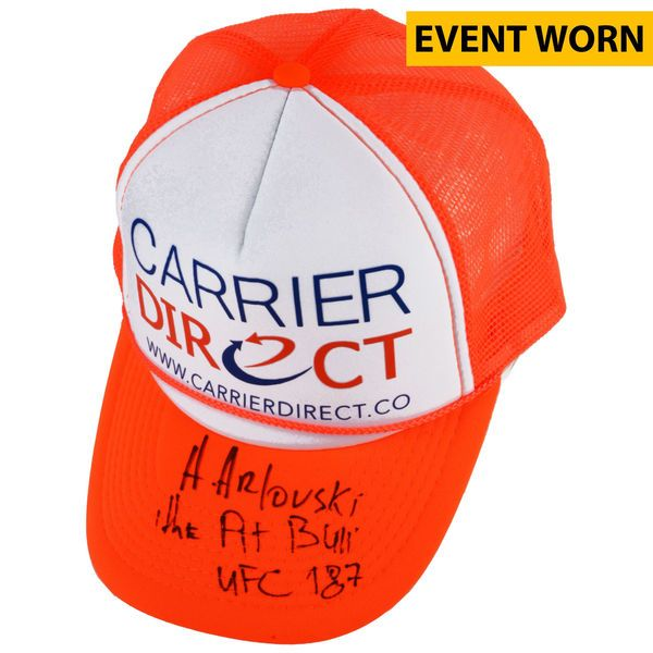 Andrei Arlovski UFC Fanatics Authentic Autographed UFC 187 Event-Worn Walkout Cap with Multiple Inscriptions - Defeated Travis Browne via 1st Round Knockout - $749.99