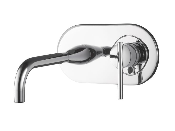 Dorf Pearl Wall Basin Mixer with Outlet