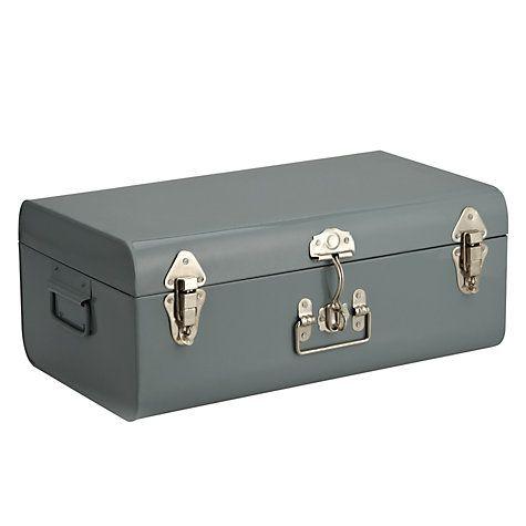 Buy John Lewis Croft Collection Trunk, Large, Slate Online at johnlewis.com