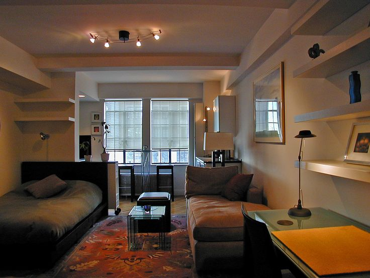 studio apartment inside. Apartments  Rug Carpet On Studio Ideas With Tracking Lights White Wall Paint Decoration Black Sofa Small Desk Lamp Nightstand 172 Best One Room Apartment Interior Design Images On Pinterest