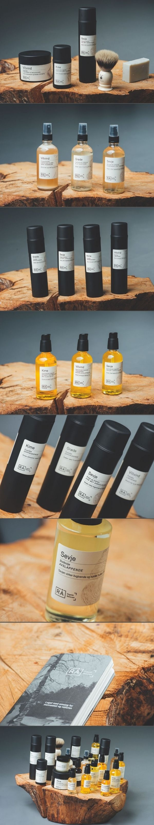 RA Organic Skincare. A skincare product that even men would bother to take a second look. #packaging #design