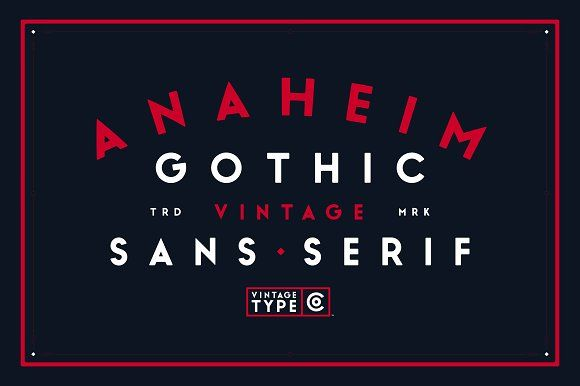 Anaheim Gothic Font by Vintage Type Co. on @creativemarket