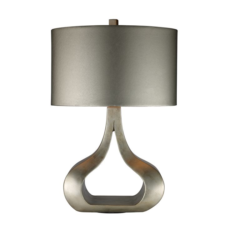 Dimond Lighting D1840 Contemporary Carolina 1 Light Table Lamp Shown In Silver Leaf Finish