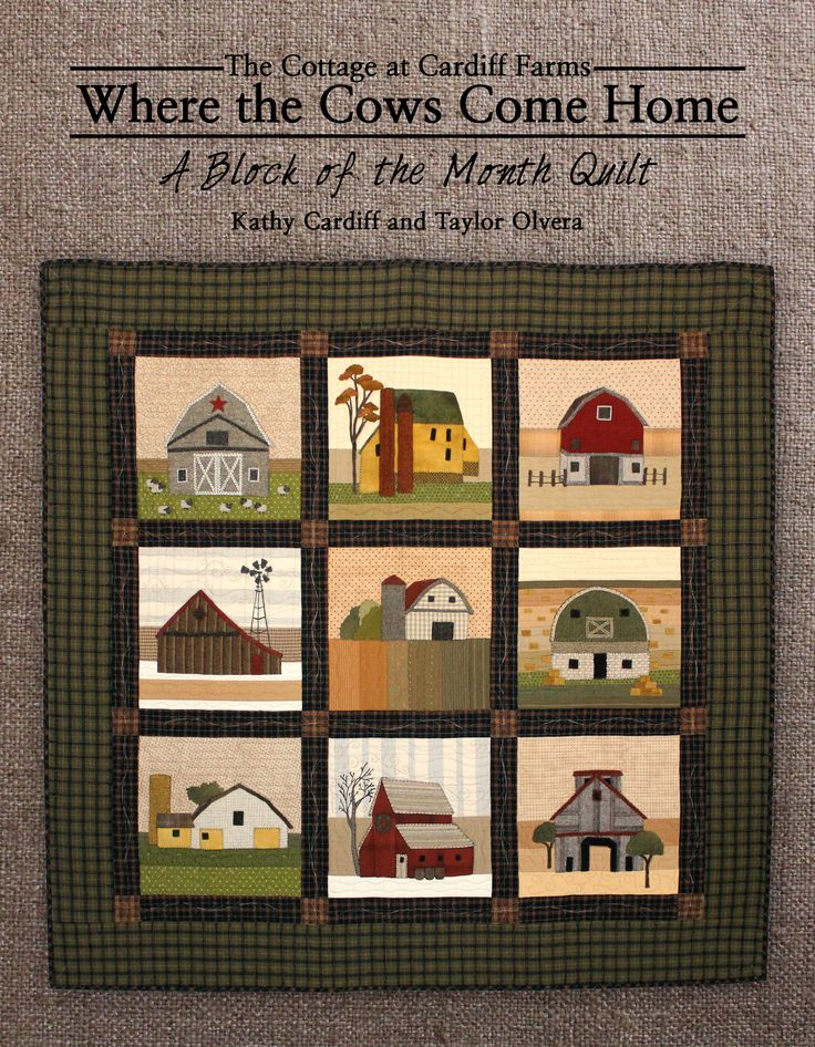 """""""Where The Cows Come Home"""" Barn Block of the Month book."""
