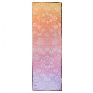 Ochremoon Deluxe Hot Yoga Towel (24''x72'') Anti Slip Silicone Dots (Sunset Orange)