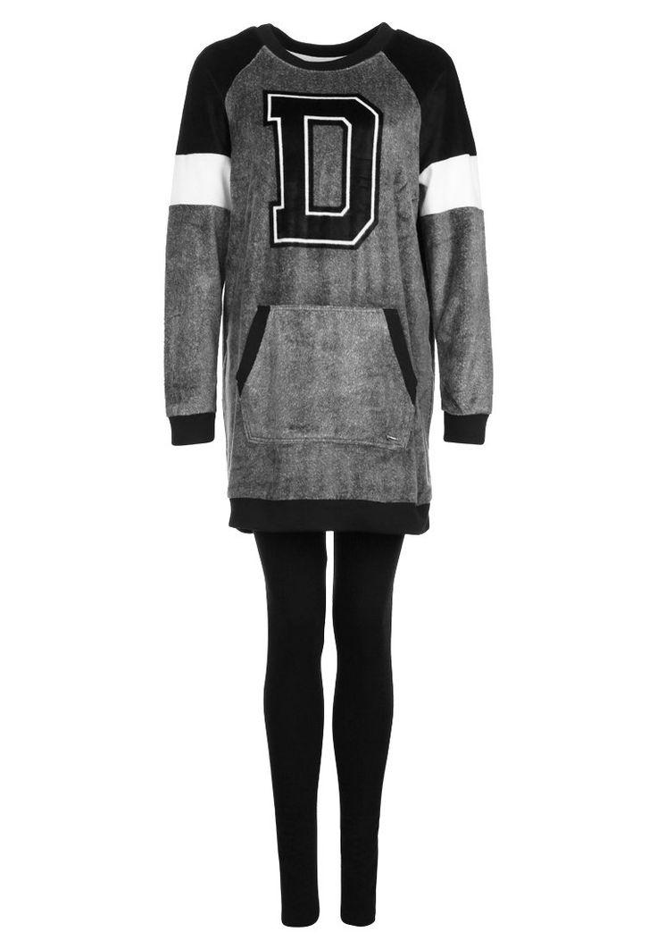 DKNY Intimates A NEW CHAPTER Piżama charcoal 349.00zł #moda #fashion #women #kobieta #dkny #intimates #a #new #chapter #piżama #charcoal #damska #knagur #bluza #do #spania