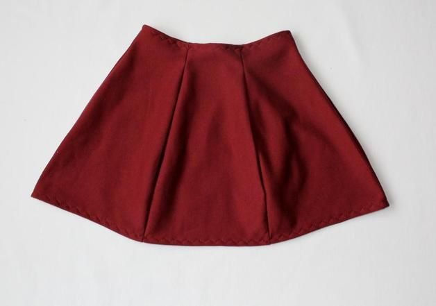 RoomStyle Spódnica Bordo Kliny - RoomStyle - Spódniczki dla dziewczynek