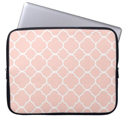 Pink Quatrefoil Moroccan Print Laptop Sleeve - Xmas ChristmasEve Christmas Eve Christmas merry xmas family kids gifts holidays Santa