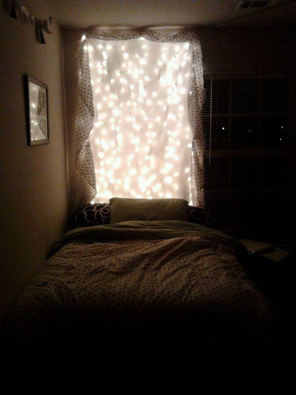 Simple Bedroom, Fun, Cozy, Christmas Lights