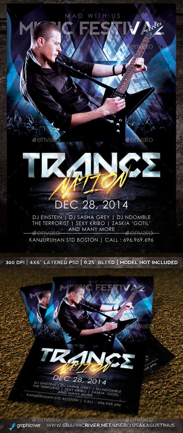 Trance Nation Flyer — Photoshop PSD #festive #atmosphere • Available here → https://graphicriver.net/item/trance-nation-flyer/9410481?ref=pxcr
