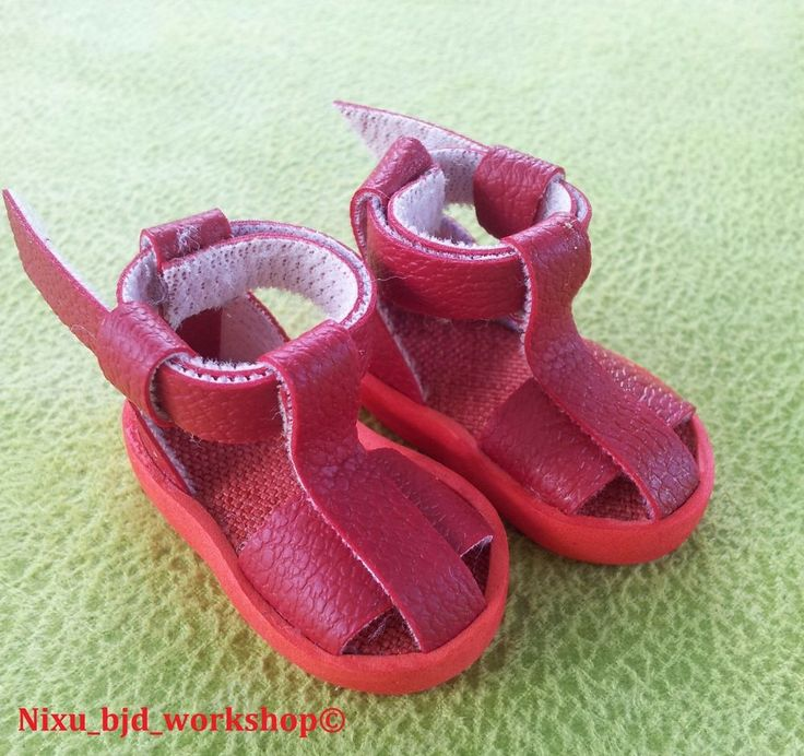 "Handmade Sandals for Hujoo BJD Dolls ""Red"" #ClothingAccessories"