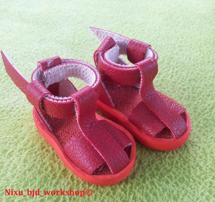 "Handmade Sandals for Hujoo BJD Dolls ""Red"" #ClothingAccessories"
